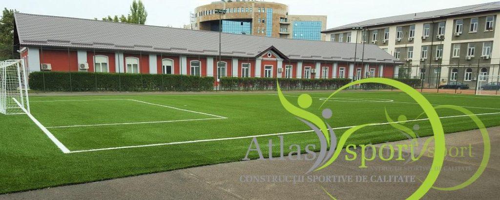Teren de fotbal sintetic şi dotări la sediul M.A.I, Bucureşti