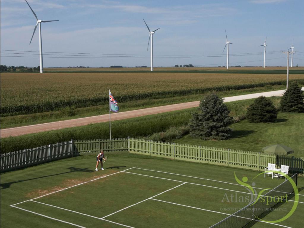 teren de tenis iarba