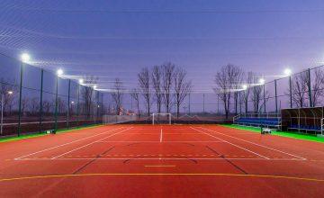 Constructie teren de sport multifunctional cu tartan