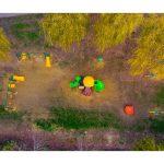 Vedere parc din drona